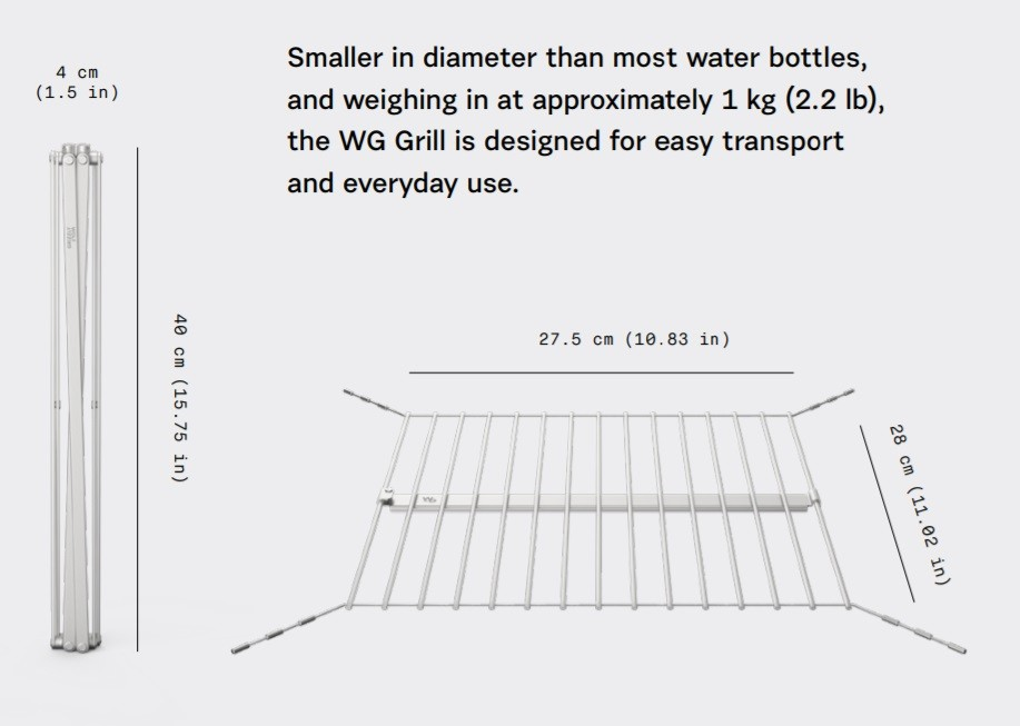 Settle Outdoor - This Grill will Make you Love Outdoor Adventures - Weight