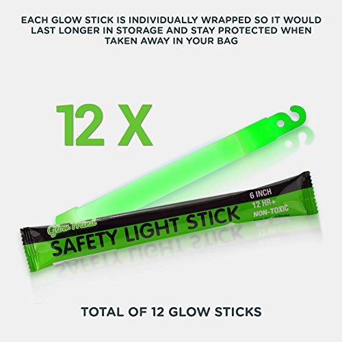 12 Ultra Bright Glow Sticks – Emergency Light Sticks for Camping